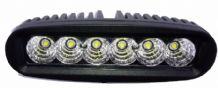 WORKLAMP <br>(MINI FLOOD LIGHT BAR) <BR>6 x 3w LED <BR>9V - 32V <BR>ALT/LED-J6180- 34